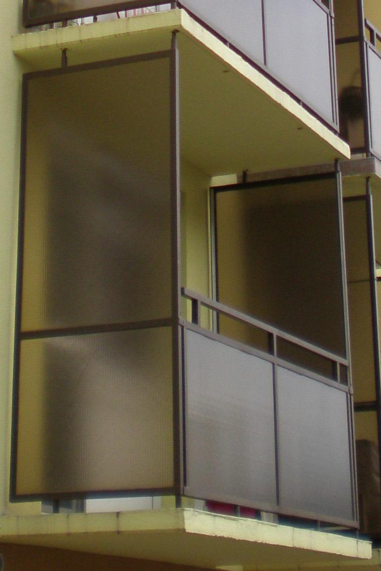 MGE erkély üveg, üvegkorlát