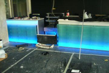 Üvegtégla beépítés